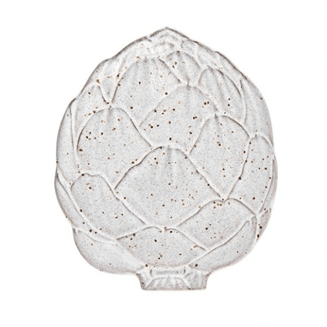 Bordallo Pinheiro White Artichoke Bread Plate