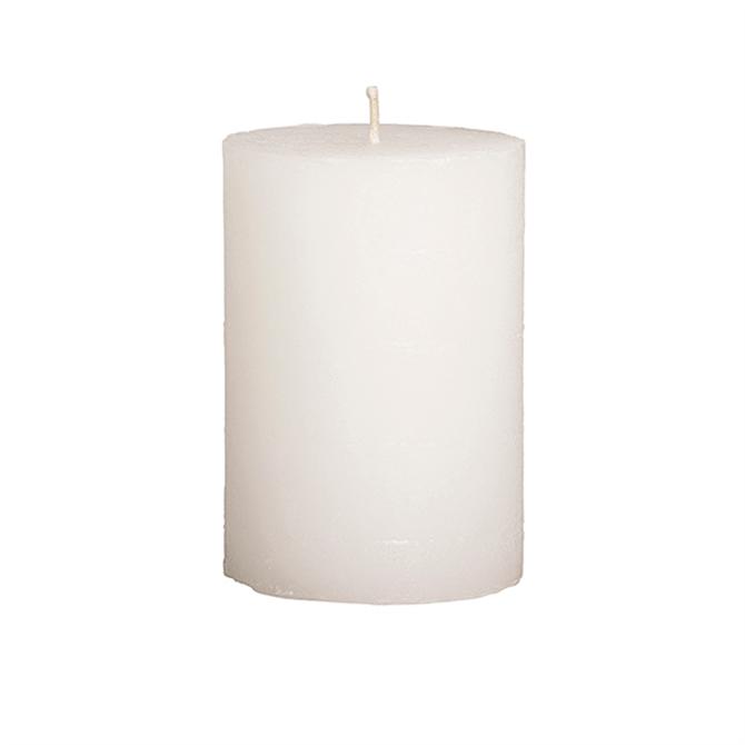 Broste Rustic Pillar Candles White 7x10cm