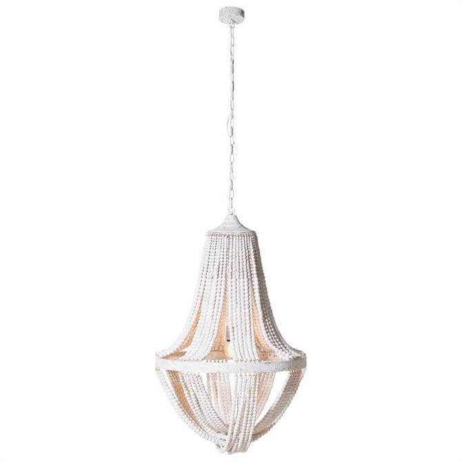 Large Wooden Bead Ceiling Light