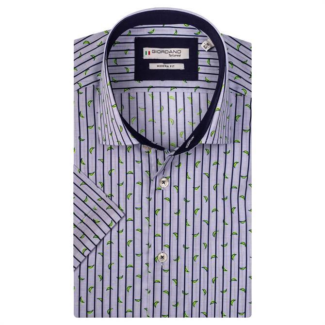 Giordano Vicenza Short Sleeve Cutaway Fancy Print Shirt