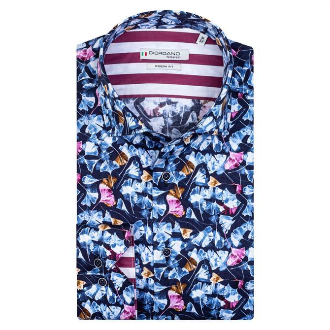 Giordano Maggiore Ginkgo Leaf Print Cutaway Shirt