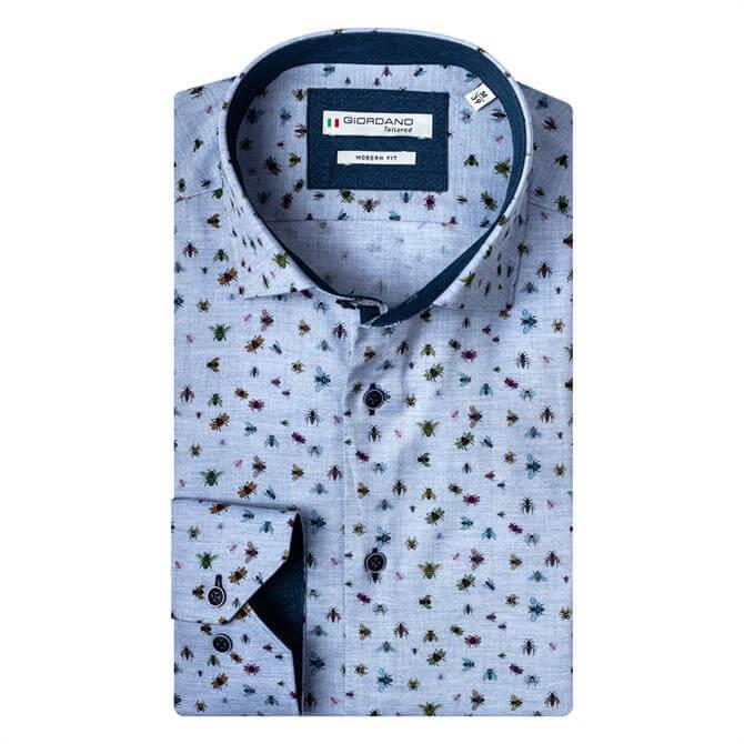 Giordano Small Insect Print Baggio Cutaway Shirt