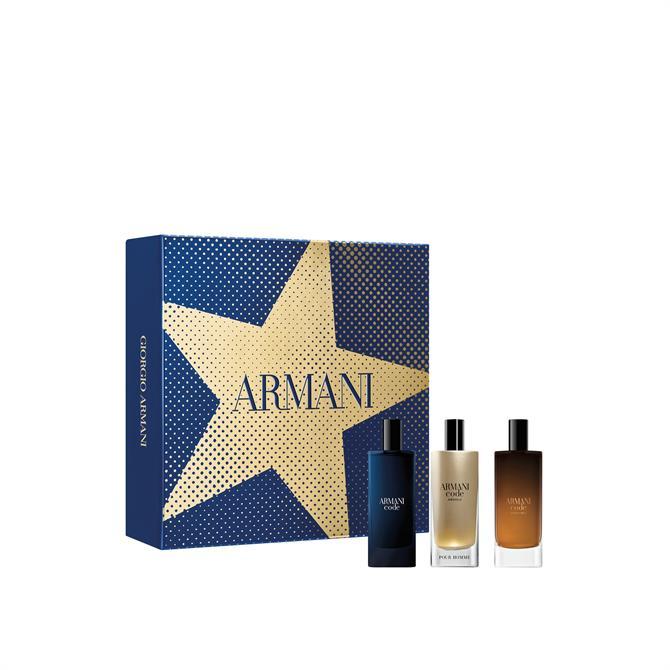 Giorgio Armani Code Men's Christmas Discovery Eau de Parfum Travel Set x3 15ml