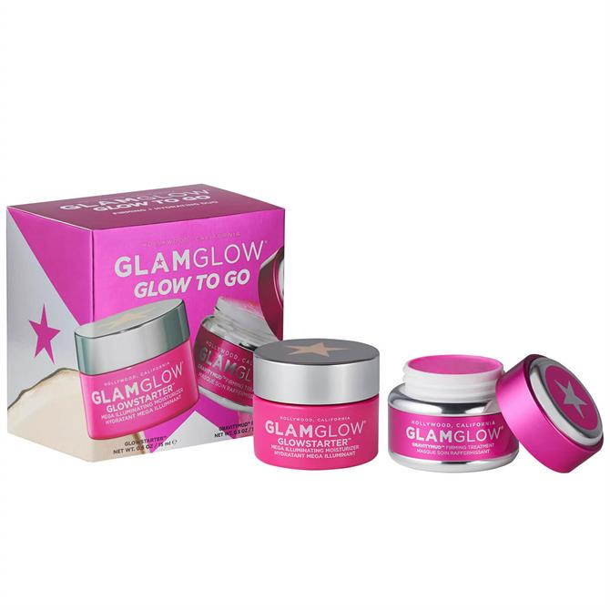 GlamGlow Glow To Go Set Mask & Moisturiser Set