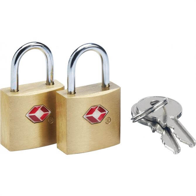 Go Travel Travel Sentry Suitcase Padlocks x2 with Keys