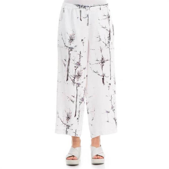 Grizas Bonsai Print Linen Crop Trouser
