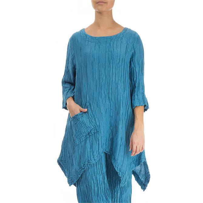 Grizas Crinkled Silk Linen Tunic