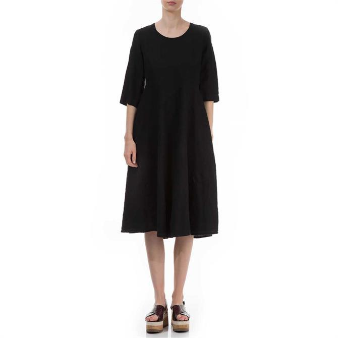 Grizas Flared Linen Dress