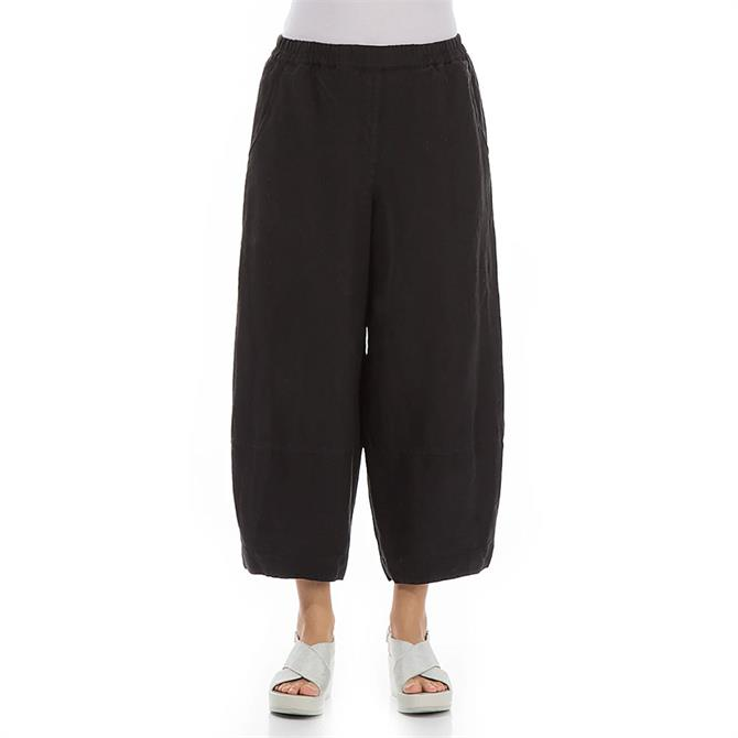 Grizas Loose Fit Linen Cropped Trousers