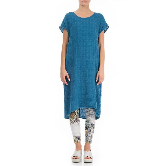 Grizas Midi Textured Linen Dress