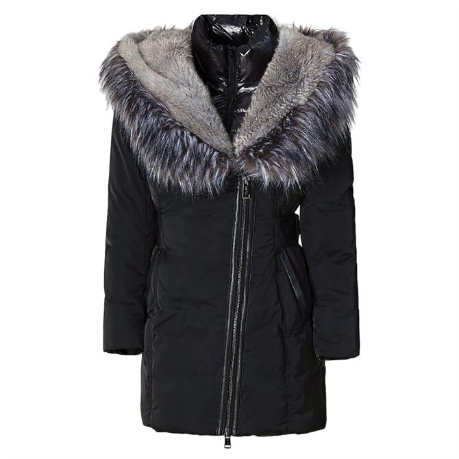 Guess Joana Faux Fur Hooded Coat