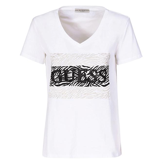 Guess Retro Zebra Logo T-Shirt