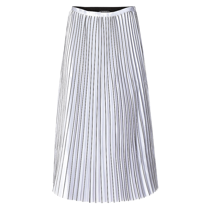 Guess Pleated Silver Skirt
