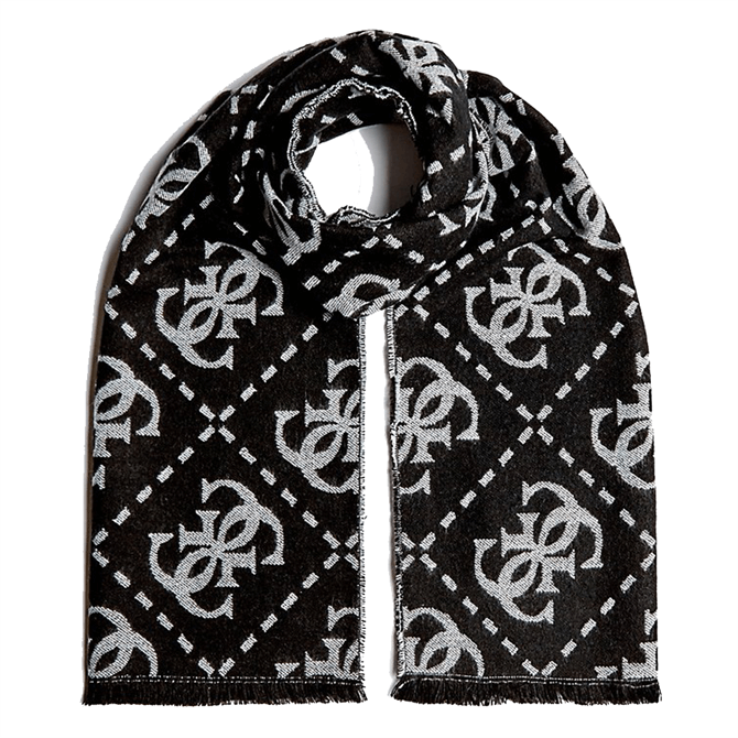 Guess Contrast Repeat Logo Scarf