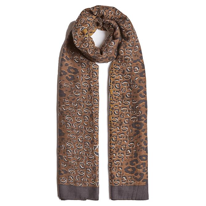 Guess Leopard & Logo Scarf
