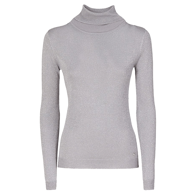 Guess Shimmer Polo Neck Sweater