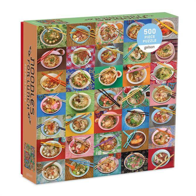 Galison Noodles for Lunch 500 Piece Jigsaw Puzzle
