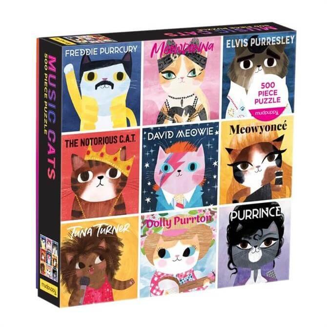 Mudpuppy Music Cats 500 Piece Family Jigsaw Puzzle