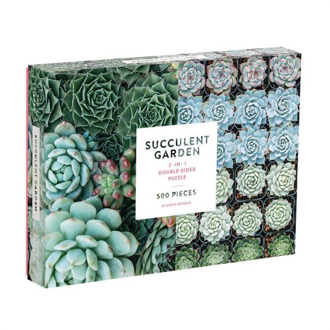 Succulent Garden Two-Sided 500 Piece Jigsaw Puzzle