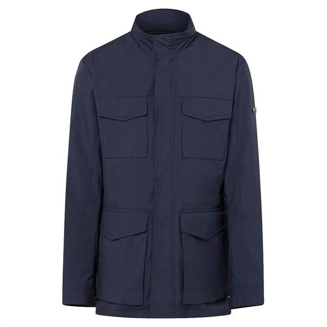 Hackett Navy Zip Out Lining Field Jacket