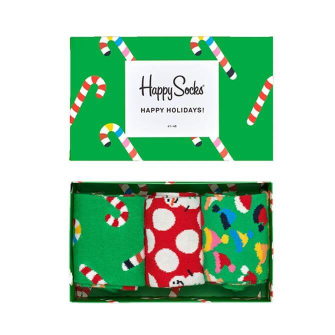 Happy Socks 3 Pack Christmas Socks Gift Box