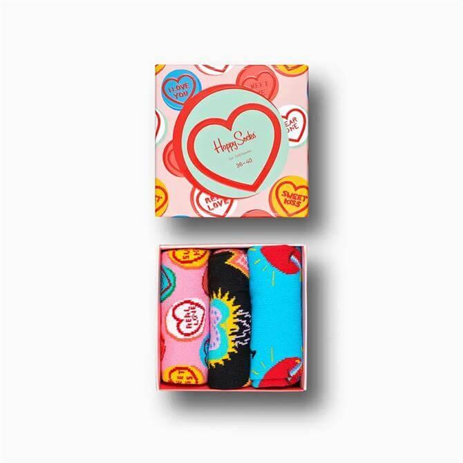 Happy Socks - I Love You Gift Box 3 Pack