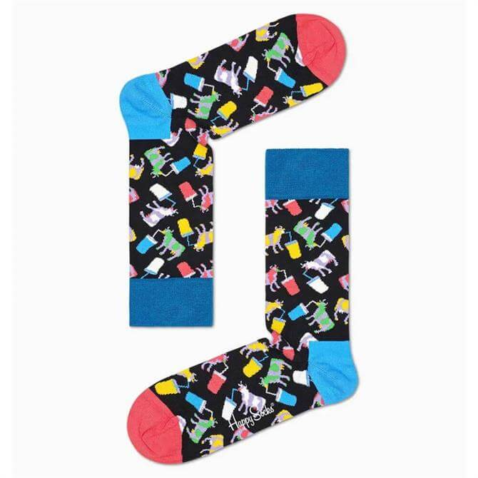Happy Socks Milkshake Cow Sock