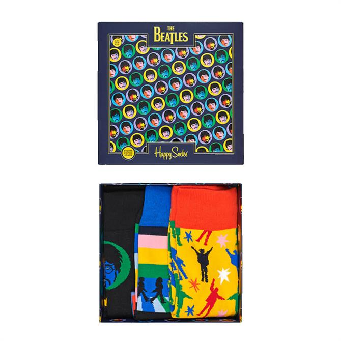 Happy Socks The Beatles 3 Pack Socks Box Set
