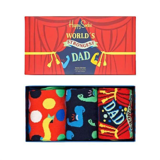 Happy Socks Father's Day Sock Gift Box 3-Pack