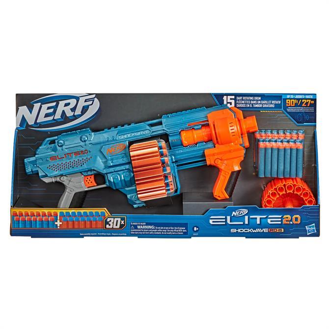 Hasbro Nerf Elite 2.0 Shockwave RD-15 Blaster Toy
