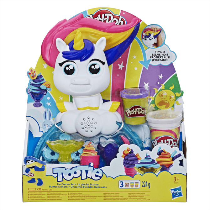 Hasbro Play-Doh Tootie The Unicorn Ice Cream Machine Set