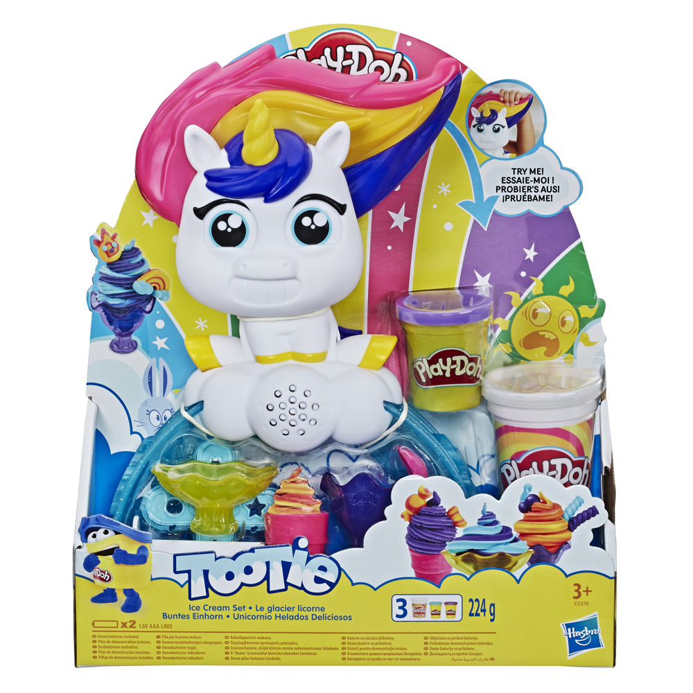 An image of Hasbro Play-Doh Tootie The Unicorn Ice Cream Machine Set