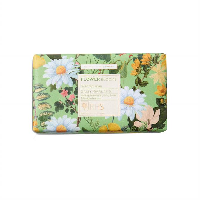 Heathcote & Ivory RHS Flower Blooms Daisy Garland Scented Soap Bar 240g