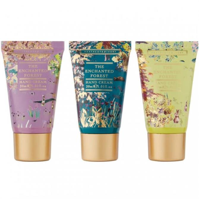 Heathcote & Ivory The Enchanted Forest Hand Cream Triolgy x3 30ml