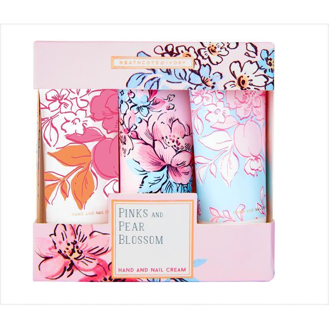 Heathcote & Ivory Pinks & Pear Blossom Hand Cream Set x3