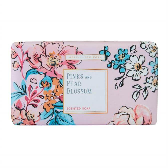 Heathcote & Ivory Pinks & Pear Blossom Scented Soap Bar 240g