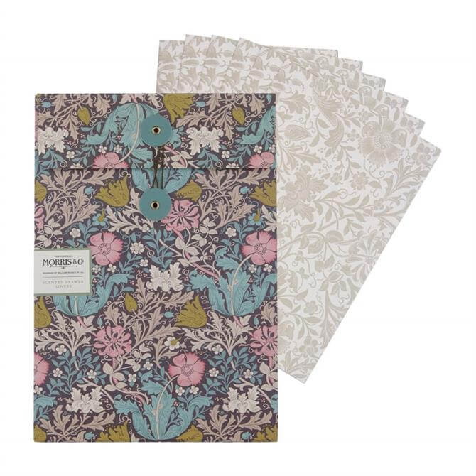 Morris & Co. Pink Clay & Honeysuckle Scented Drawer Liners x5