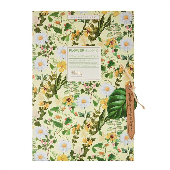Heathcote & Ivory RHS Daisy Garland Scented Drawer Liners x5