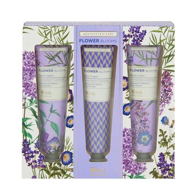 Heathcote & Ivory RHS Lavender Garden Hand Cream Set x3