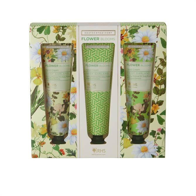 Heathcote & Ivory RHS Daisy Garland Hand Cream Set x3