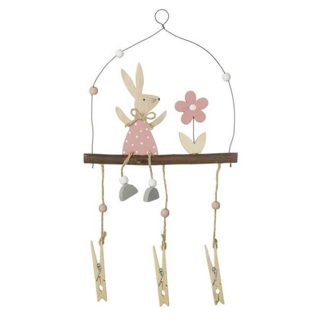 Rabbit Hanger Decoration With Pegs