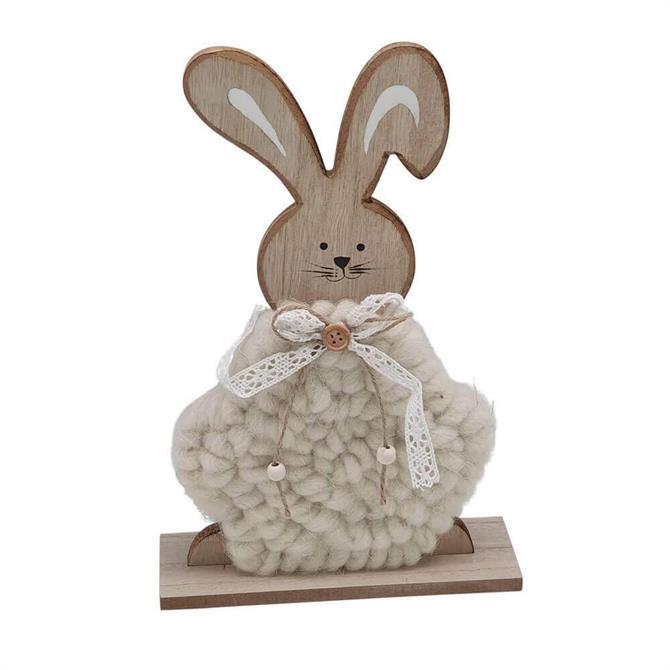 Wooden Fluffy Rabbit