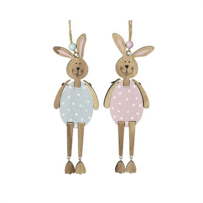 Wooden Rabbit Hanging Decoration Assorted