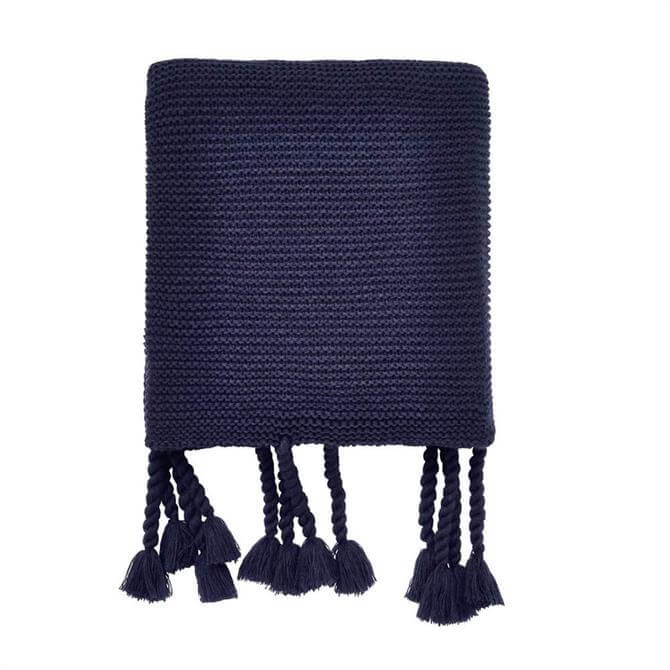 Helena Springfield Cosmos/Viva Navy Knitted Throw