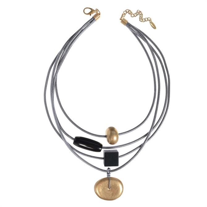 Hot Tomato Gold Shape Shifter Orbit Necklace