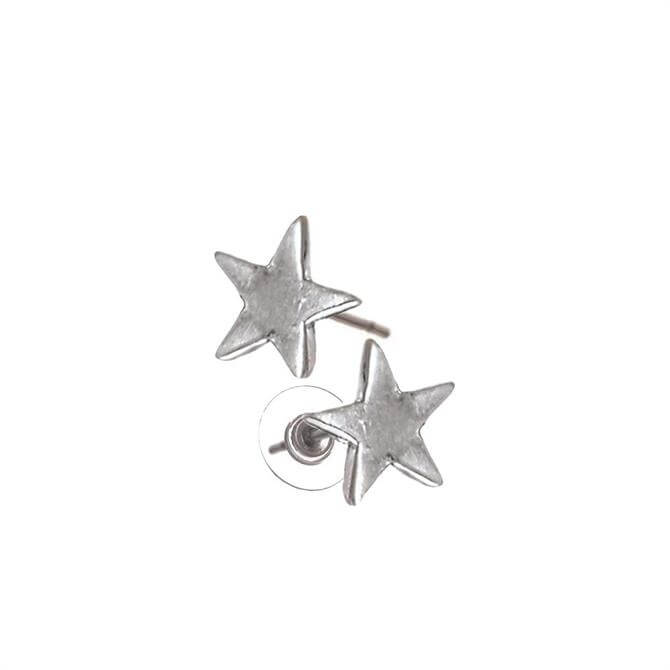 Hot Tomato Silver Star Stud Earrings