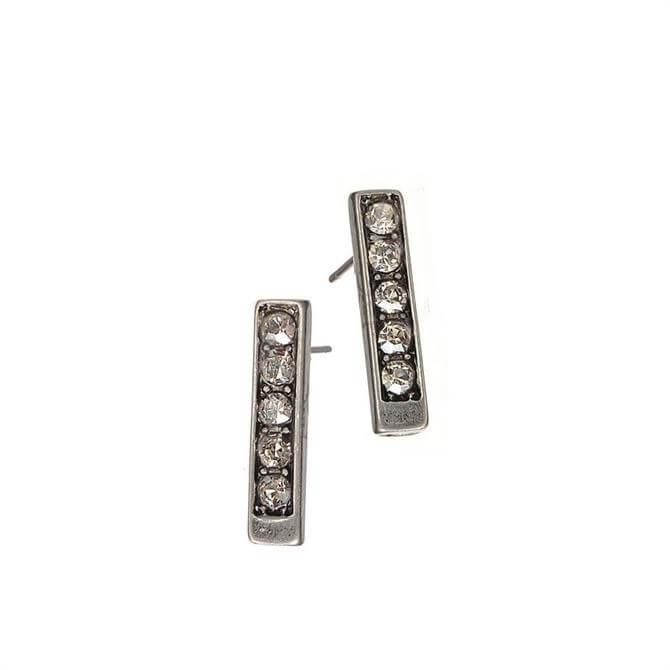 Hot Tomato Silver Totem Stud Earrings