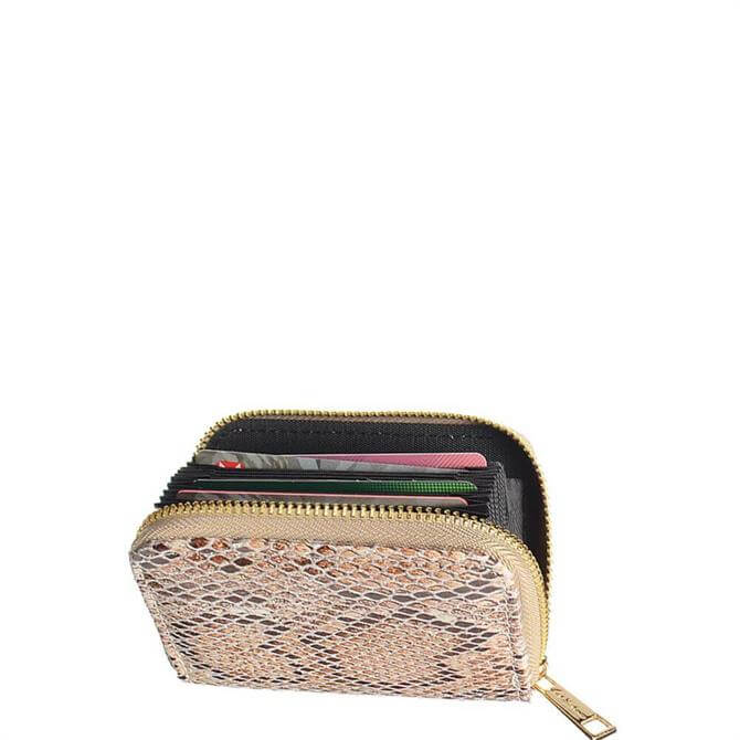 Hot Tomato Coco Earth Faux Snake Credit Card Wallet