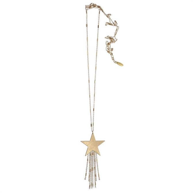 Hot Tomato Gold Solid Shooting Star Necklace