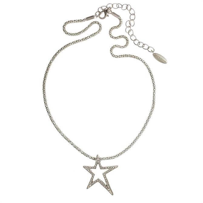 Hot Tomato Silver Shooting Star Necklace